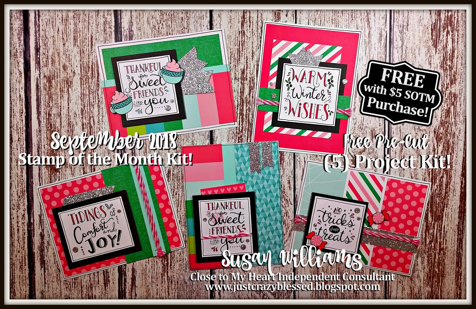 September 2018 Stamp of the Month Workshop!