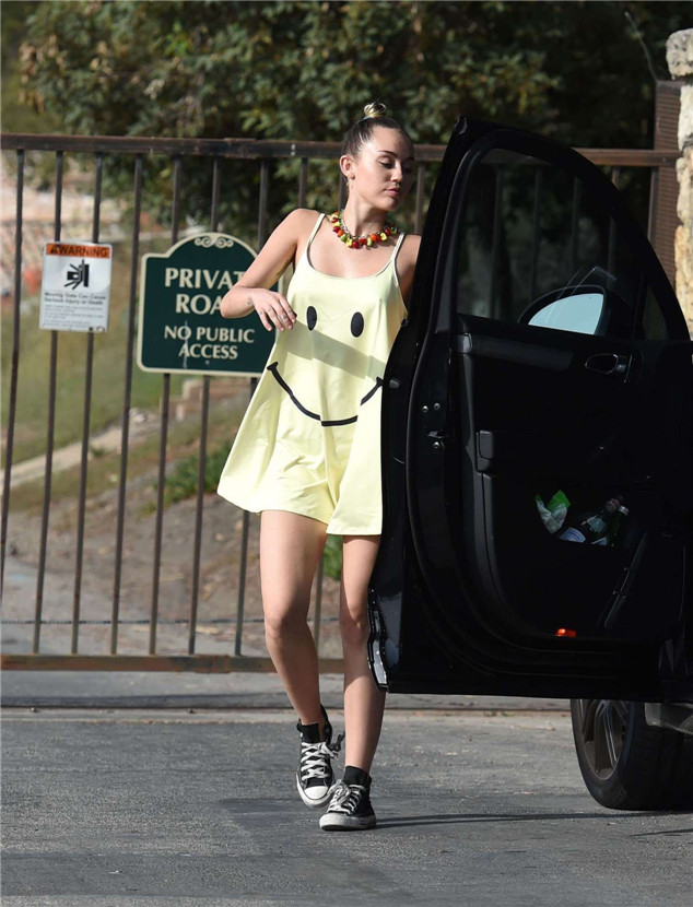 Paparazzi: Miley Cyrus Attending a Private Party in Los Angeles