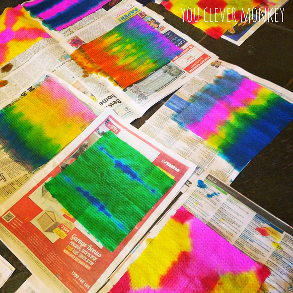 Dip Dye Art - Easy to set-up with materials most people have at home and quick to clean up, dip dye painting combines maths and art perfectly in one colour filled art activity children of any age will love | you clever monkey