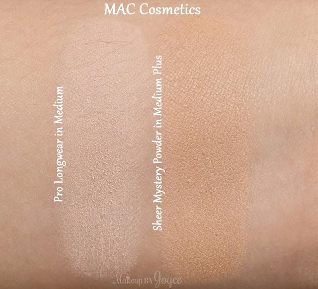 MAC Pro Longwear Pressed Powder in Medium Plus Swatches Sheer Mystery