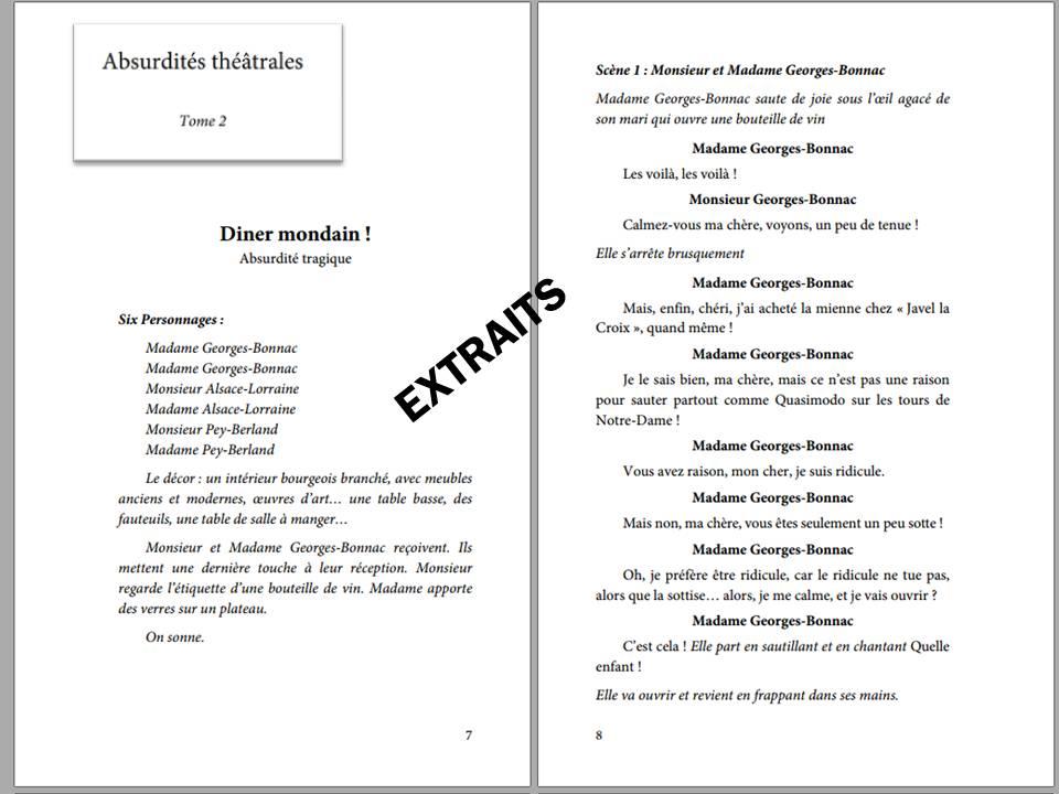 d'arnaudy, théâtre, absurde, abusdités théâtrales, edilivre, ISBN : 9782334230797