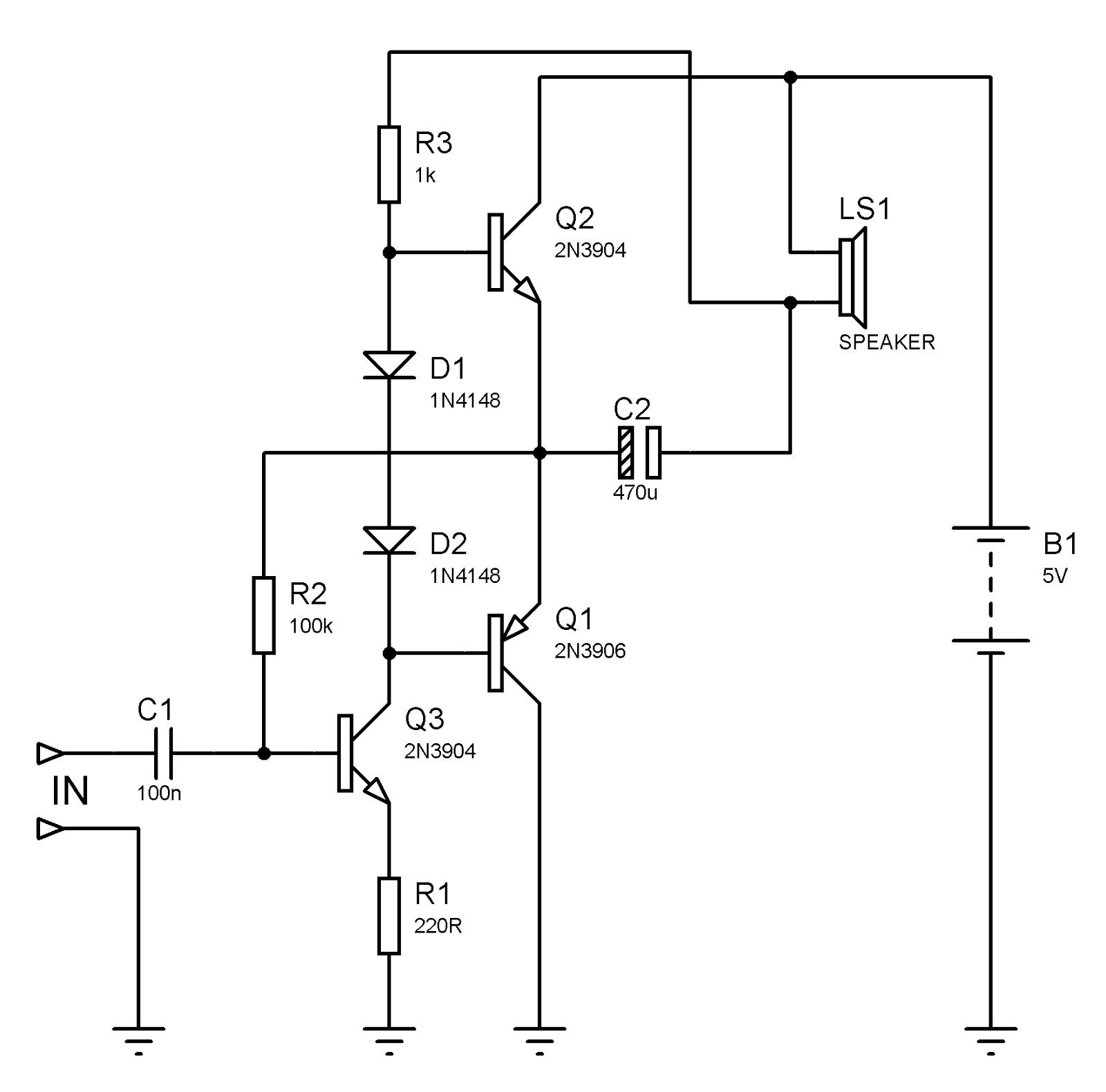 Circuito Amplificador : Eletrônico projetos amplificadores de audio
