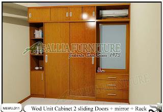 Lemari minimalis plafon unit cabinet Wod