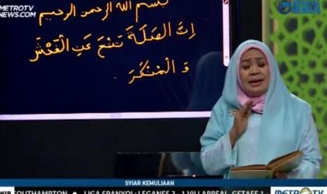 Salah Tulis Ayat Al Quran Saat Mengisi Acara di Metro TV, Ini Klarifikasi Ustadzah Nani Handayani