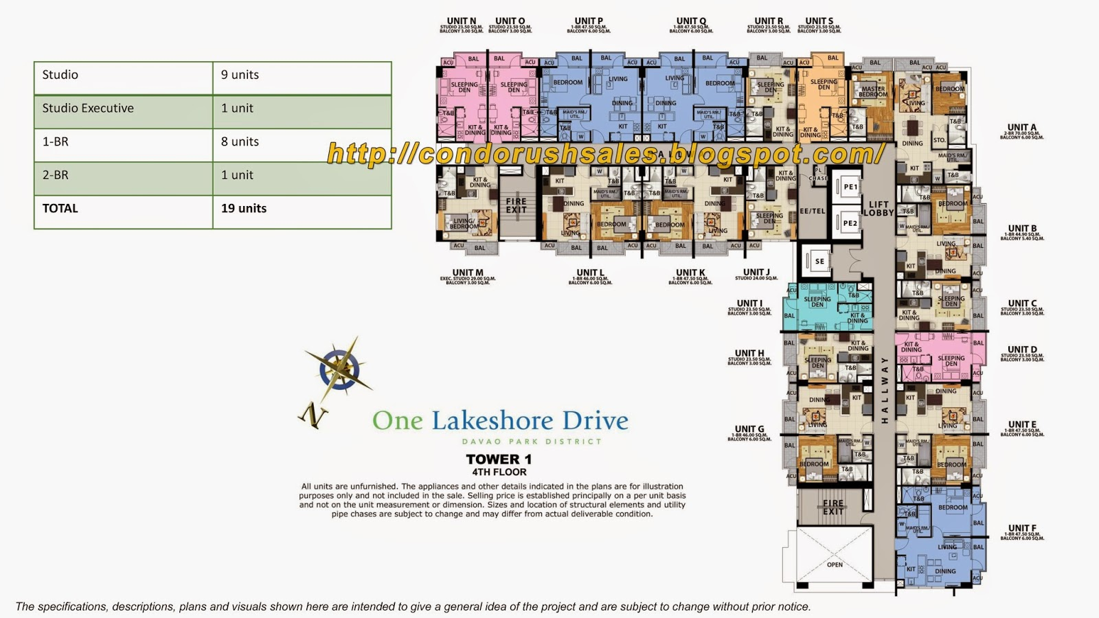 One Lakeshore Drive 4th Floor Units