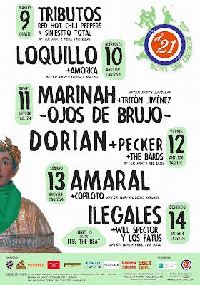 Cartel conciertos Fiestas de San Lorenzo HUESCA 2016