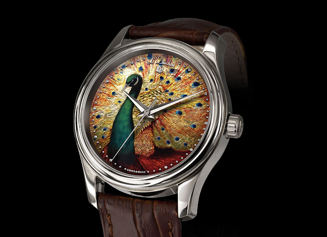 L'Duchen Golden Peafowl Mechanical Automatic Watch