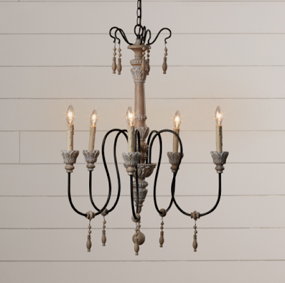 Updated antique chandelier to complete your French farmhouse style makeover.