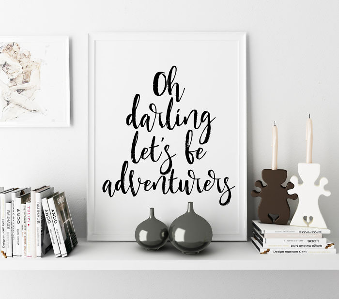 15+ Of The Best Traveler Gift Ideas Besides Actual Plane Tickets - Adventurer Quote Poster