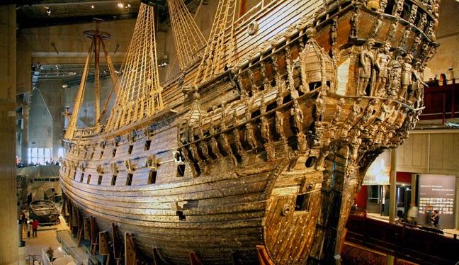 Galeón en el Museo Vasa, Estocolmo.