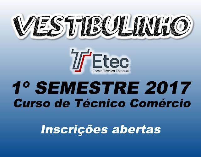 Inscrições abertas para curso Técnico em Comércio pela ETEC Jacupiranga