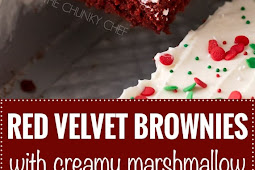 RED VELVET BROWNIES WITH MARSHMALLOW CREAM CHEESE FROSTING