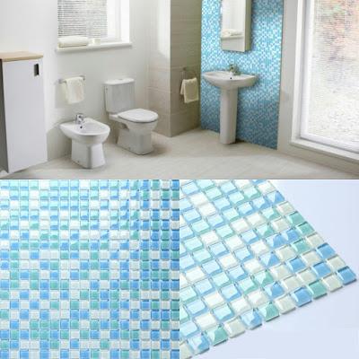 crystal glass tile sheets for shower walls sea blue glass mosaic tiles kitchen backsplash