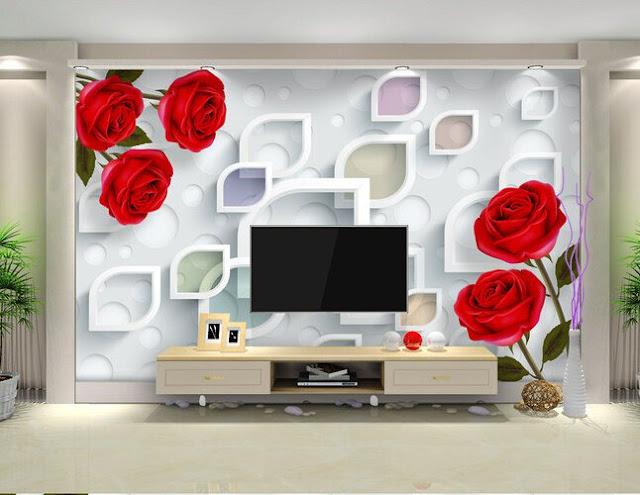 Tv Unit Decoration Ideas: Fantastic 3D Wallpaper For TV Unit Decorations