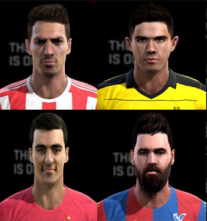 Faces: Jose Fonte, Ledley, Mikel Merino, Pulisic, Pes 2013