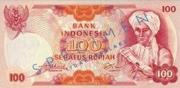 100 rupiah diponegoro