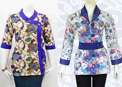 Model Baju Batik Modern Untuk Kerja 2017