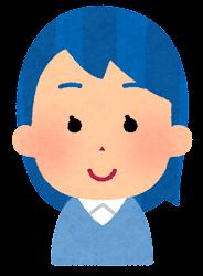 青い髪の女の子のイラスト