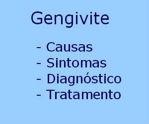 Gengivite causas sintomas diagnóstico tratamento