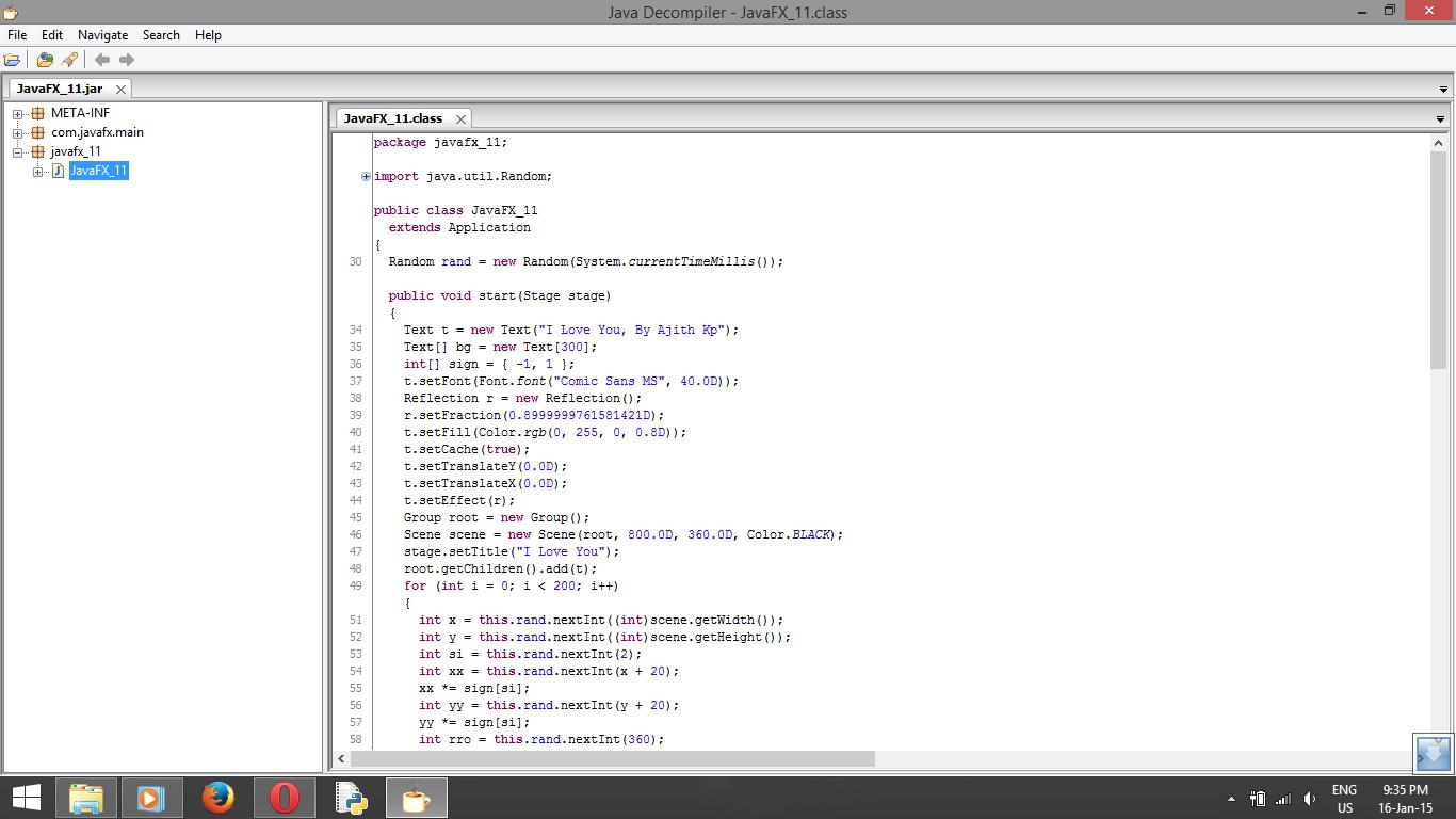Decompile Java Class/Jar file