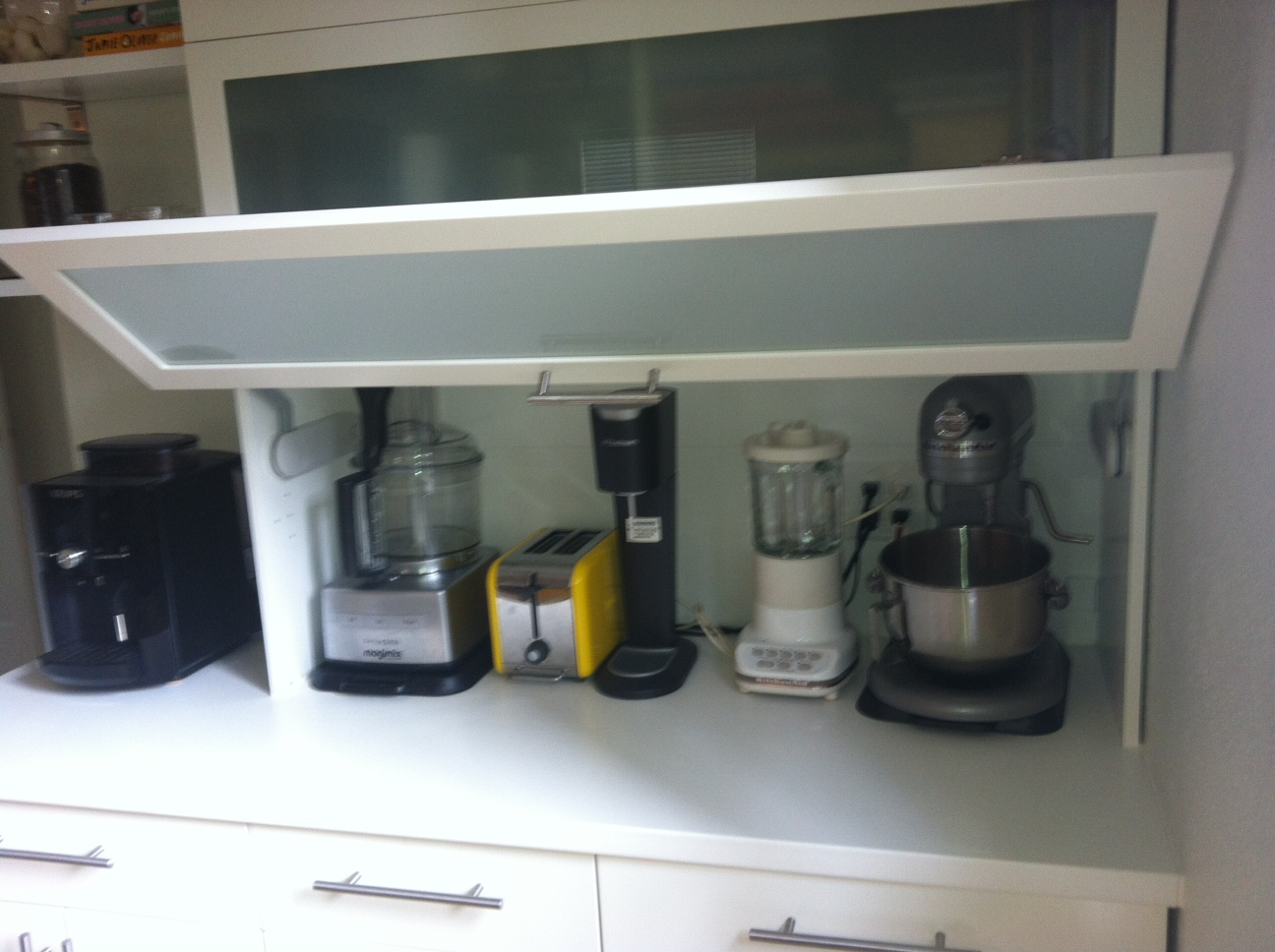 Kitchen Appliance Shelf Eat In Table Garage Via Ikea Hackers Tarzy Blogja