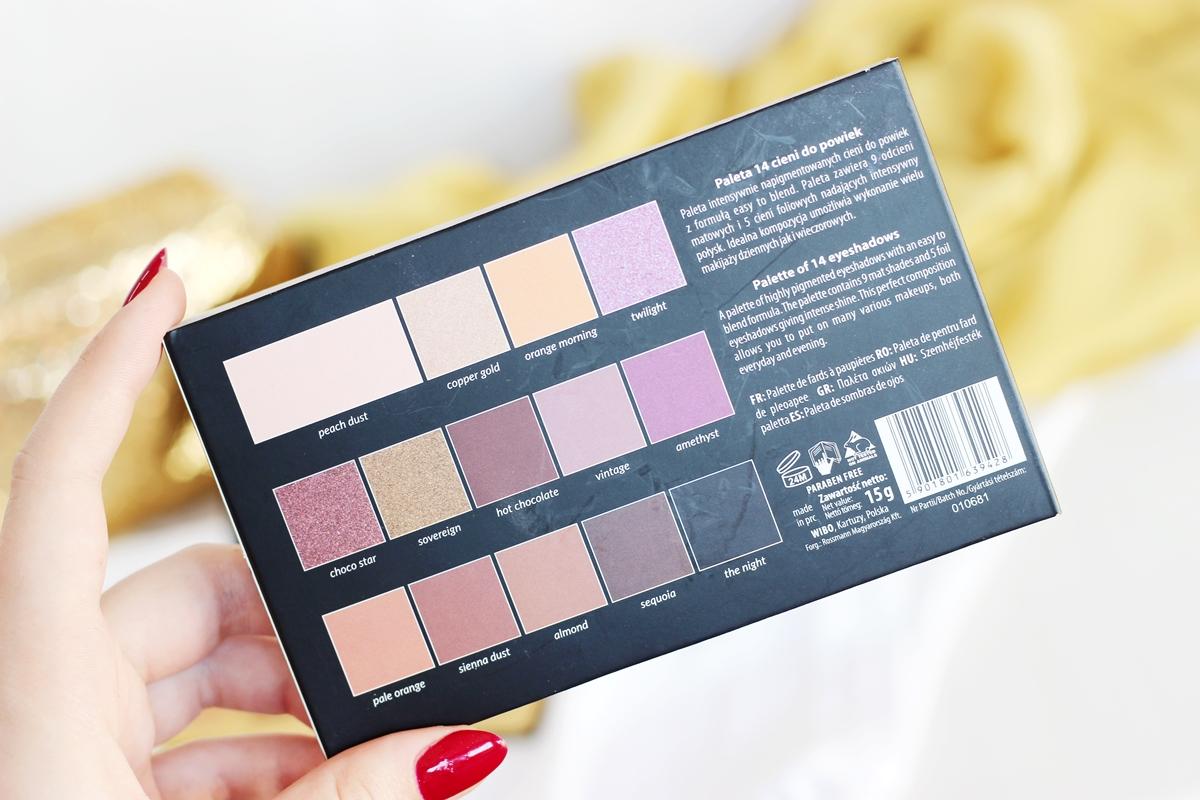 wibo eyeshadow palette swatche kolory cena rossmann