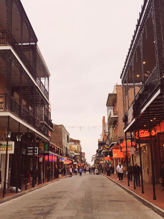 3 days in New Orleans Bourbon Street