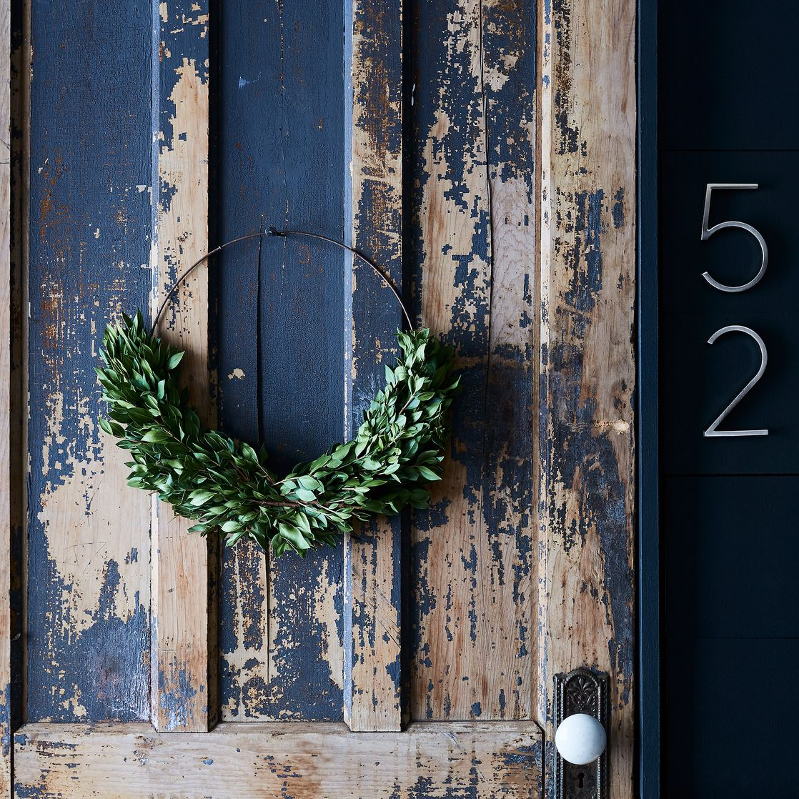 image result for half wreath natural distressed door food 52
