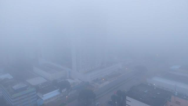 Gama no Distrito Federal sob forte neblina