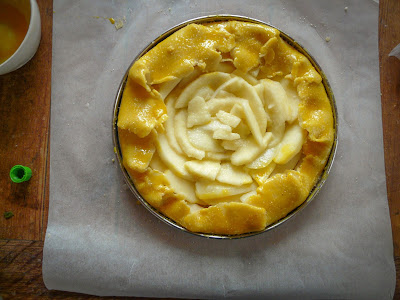 tarte aux pommes rustique et originale
