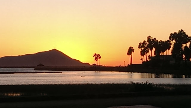 Sunset at Esterio Beach Resort and RV Park, Ensenada Mexico