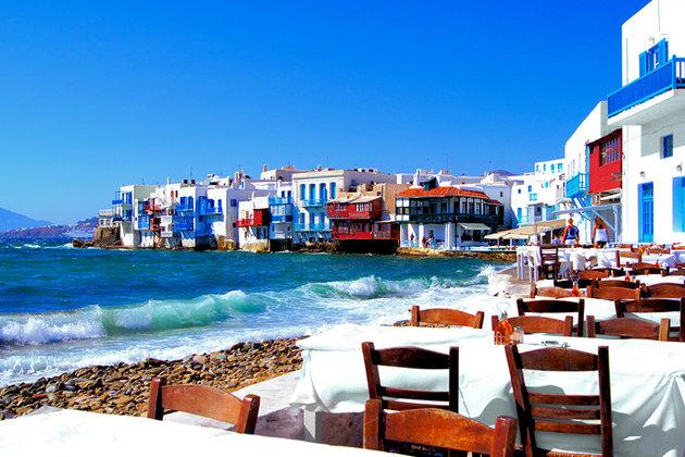 Cidade de Chora, na Grécia