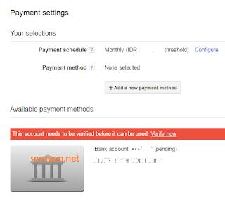 Notifikasi Adsense Pembayaran Anda Saat Ini Sedang Ditangguhkan