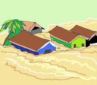 Soal UAS Bahasa Indonesia Kelas 2 Semester 1 - gambar peristiwa banjir