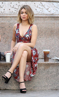 Sarah Hyland Sexy Flower Print Upskirt Hot thighs Lovely Cleavages Without bra