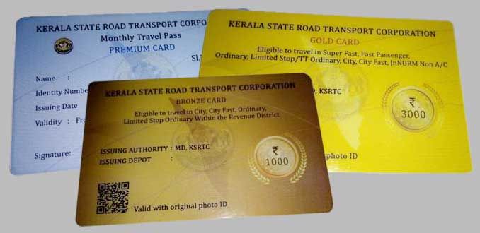 Kerala RTC Travel Cards