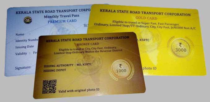 Kerala RTC Travel Cards