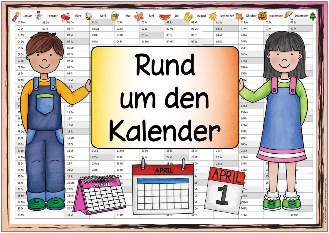 """Ideenreise   Blog   Themenplakat """"Rund um den Kalender"""""""