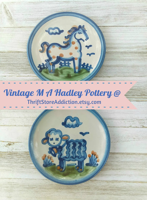 collectible M A Hadley pottery