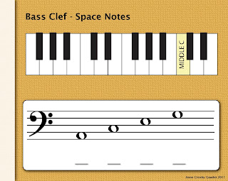 PianoAnne: Bass Clef Space Notes
