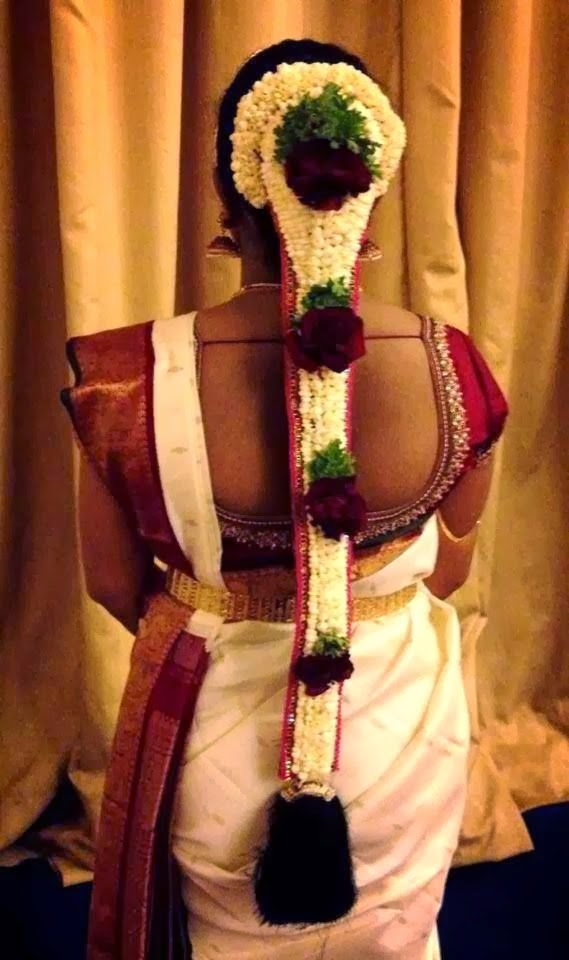 Pleasing Pelli Poola Jada Southindian Bridal Hairstyles With Flowers Short Hairstyles For Black Women Fulllsitofus