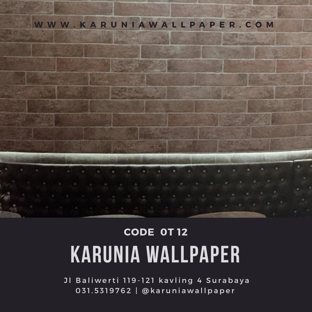 jual wallpaper dinding batu bata toko karunia wallpaper surabaya