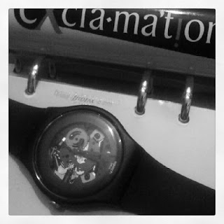swatch watch, filofax, exclamation deodorant