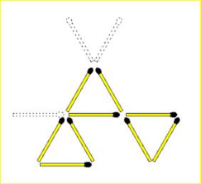 Form Triangle Using MatchSticks