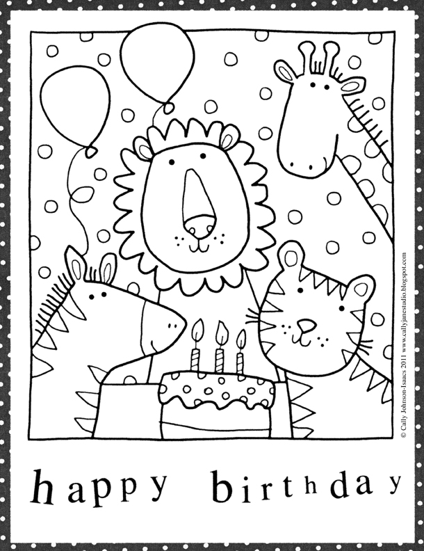 We Love to Illustrate: August FREE Downloadable Coloring ...