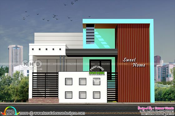 South Indian style single floor house plan