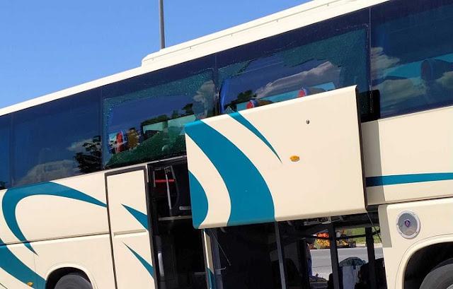 Θύμα της… μπάρας το λεωφορείο του ΚΤΕΛ Θεσπρωτίας