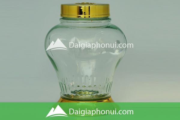 Bình Ngâm Rượu Việt Nam (Phú Hòa Glass) Hình Trái Táo - Dai Gia Pho Nui
