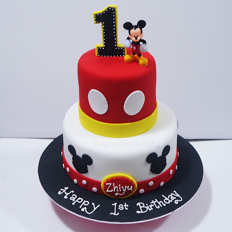 Cupcake Divinity 2 Tier Mickey Mouse Cake