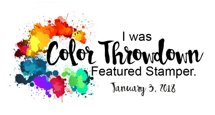 I was a featured Stamper on Colour Throwdown,
